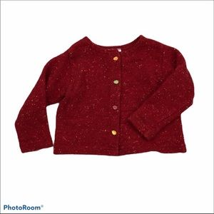 Mulberr Bush Fall sweater with fall leaf buttons